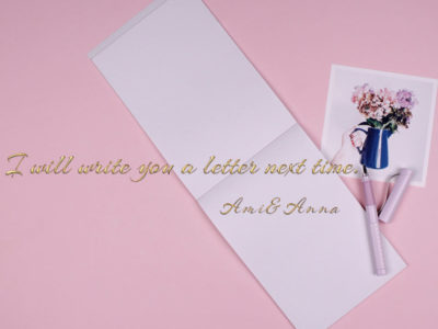 白い便箋とピンクの万年筆
