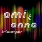 Ami&Annaと書いてあるガラス風のテキストエフェクト