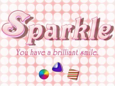 sparkleと書いたピンクのテキストエフェクト