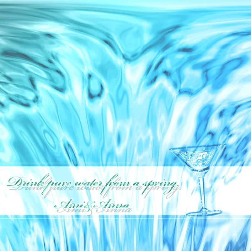 流れ落ちる水のグラフィック画像