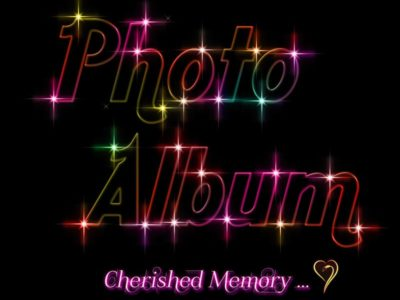 photographと書いたネオン風の光るテキストエフェクト