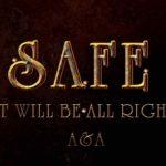 SAFEと書いた錆びた金属風のテキストエフェクト