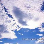 佐賀県三瀬峠で撮影した空と白い雲