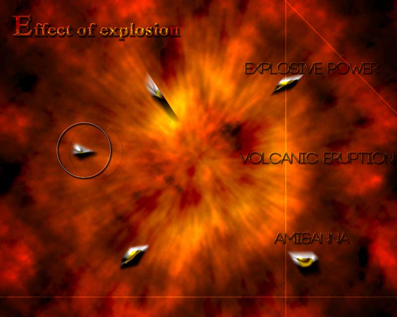 爆発しているグラフィック画像