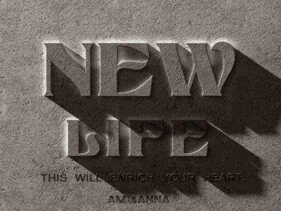 NewLifeと書いたテキストエフェクト