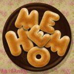 フォトショップで作成したHOME MEと型を取ったベーグルパン