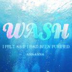 海底の画像にwashと書いたテキストエフェクト