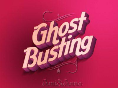 Ghost Busting と書いたピンクの3Dテキストエフェクト