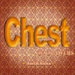 chestと書いた木のテキストエフェクト