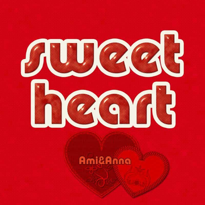 sweet heartテキストエフェクト