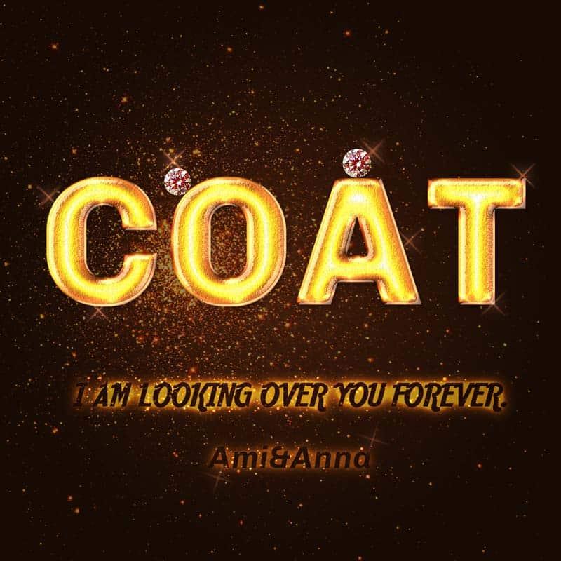 COATと書いた金色とダイヤのテキスト