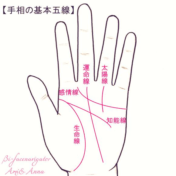 手相基本5線の説明
