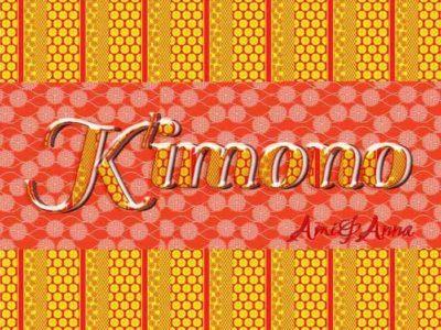 kimonoと書いた着物風テキストエフェクト