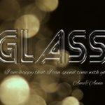 GLASSと書いたグラス風テキストエフェクト