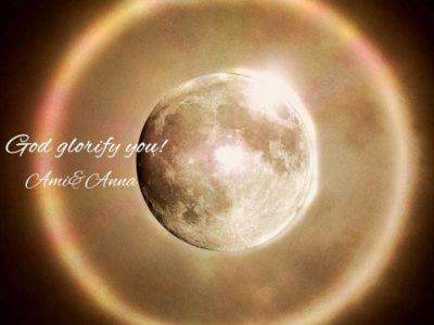 月と金環日食のグラフィック画像