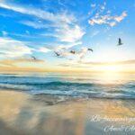 海岸からの日の出
