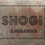 錆びた鉄の上にSHOGIと書いた文字を型押ししたようなテキストエフェクト