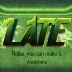 LATEと書いた緑と緑の炎のテキストエフェクト
