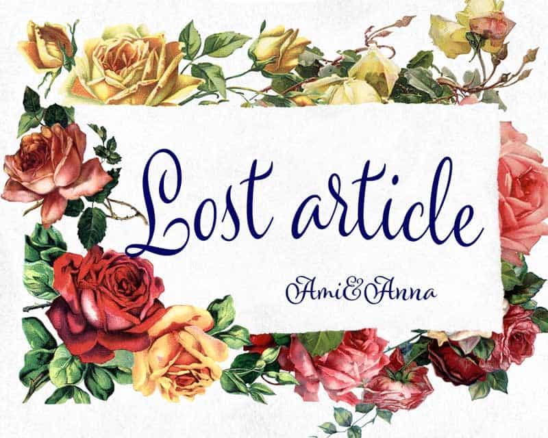 Lost articleのテキストに沢山の薔薇のグラフィック画像