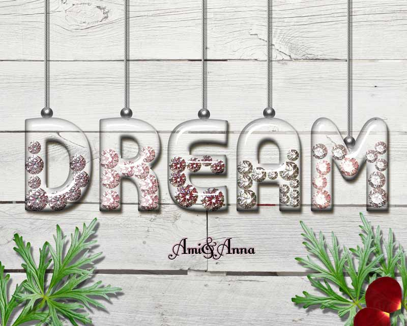 DREAMとダイヤのテキストエフェクト