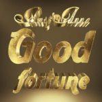 Good fortuneの3Dゴールドテキストエフェクト