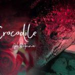 ワニと赤いバラのグラフィック画像