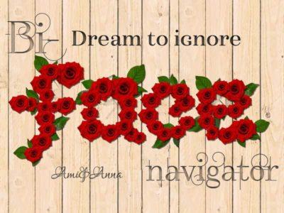 Bi-facenavigatorと書いた赤い薔薇のテキストエフェクト