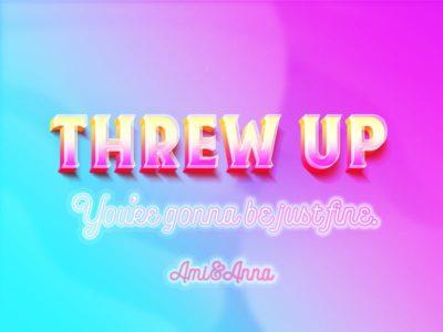 throw_upと書いたピンクと黄色の3Dテキストエフェクト