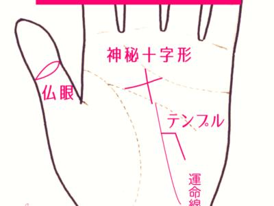 手相の仏眼、神秘十字形、テンプルの画像一覧