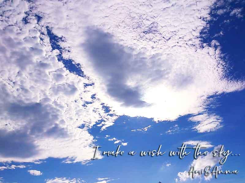 佐賀県三瀬峠で撮影した青空と白いうろこ雲